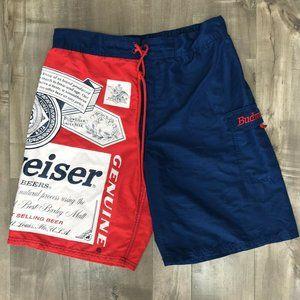 "Budweiser Board Shorts Mens Size Medium 32""-34"""